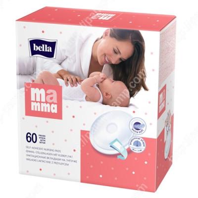 Вкладыши лактационные Bella Mamma с липкой полоской. 60 шт 5900516402358