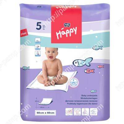 Пеленки детские  BELLA BABY HAPPY 60x60 см 5 шт 5900516601652