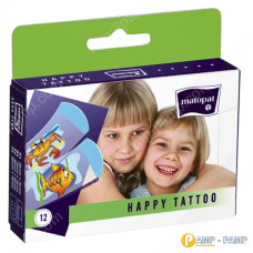 Пластырь медицинский mаtораt HAPPY TATTOO  12 шт 5900516898359