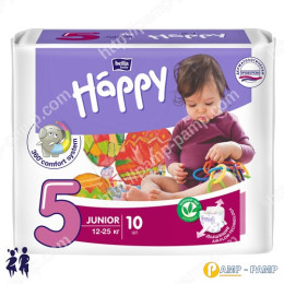 Подгузники детские Bella Baby Happy Junior 5 12-25 кг 10шт 5900516600389