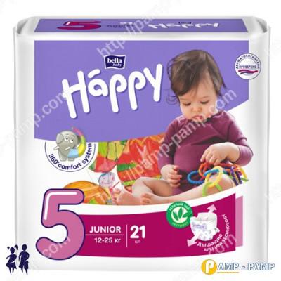 Подгузники детские Bella Baby Happy Junior 5 12-25 кг 21шт  5900516600792