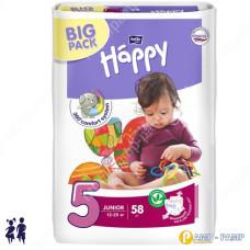 Подгузники детские Bella Baby Happy Junior 5 12-25 кг 58шт 5900516601133