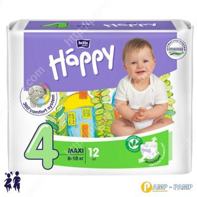 Подгузники детские Bella Baby Happy maxi 8-18 кг  12 шт 5900516600372