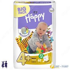 Подгузники детские Bella Baby Happy maxi plus 9-20 кг 62 шт 5900516601140