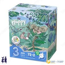 Подгузники детские Bella Baby Happy midi 5-9 кг, 2x72 шт 5900516017323