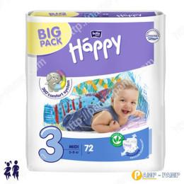 Подгузники детские Bella Baby Happy midi 5-9 кг, 72 шт 5900516602864