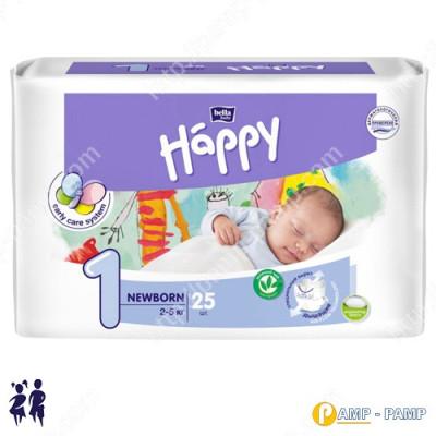Подгузники детские Bella Baby Happy NewBorn 1 2-5 кг, 25 шт 5900516601805