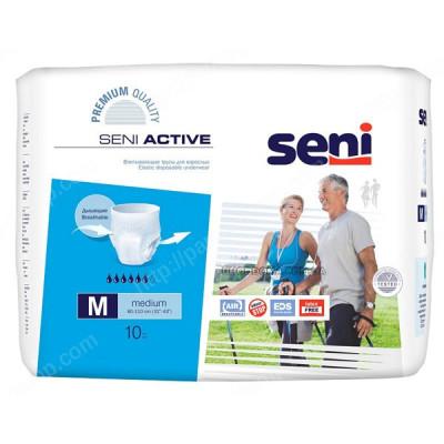 Впитывающие трусы, подгузники для взрослых  SENI ACTIVE medium 10 шт 5900516690908