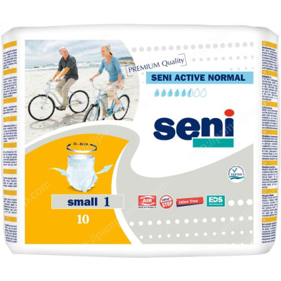 Впитывающие трусы, подгузники для взрослых  SENI ACTIVE Normal small 10 шт 5900516693039 урологические трусы