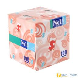 Bella № 1 Платочки косметические  двухслойные, 100 шт  5900516400217