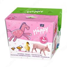 Платочки бумажные Bella Baby Happy двухслойные Свинка 40 + 40 шт 5900516421106