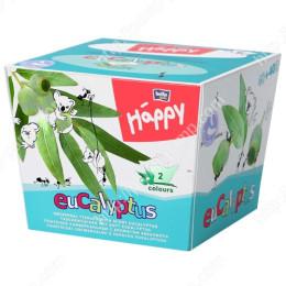 Платочки бумажные Bella Baby Happy двухслойные Эвкалипт 40 + 40 шт 5900516421496