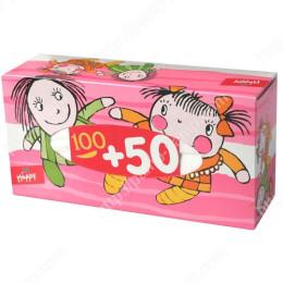 Платочки бумажные Bella Baby Happy универсальные двухслойные 100 + 50шт 5900516420901
