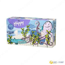 Платочки бумажные Bella Baby Happy универсальные двухслойные 150 шт Осьминог  5900516420901