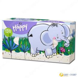 Платочки бумажные Bella Baby Happy универсальные двухслойные 150 шт Слон  5900516420901