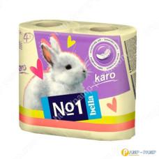 Туалетная бумага Bella№1 Karo, желтый, двухслойная 4 рулона