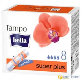 Тампоны женские гигиенические без аппликатора Tampo Bella Premium Comfort super plus, 8 шт 5900516320317