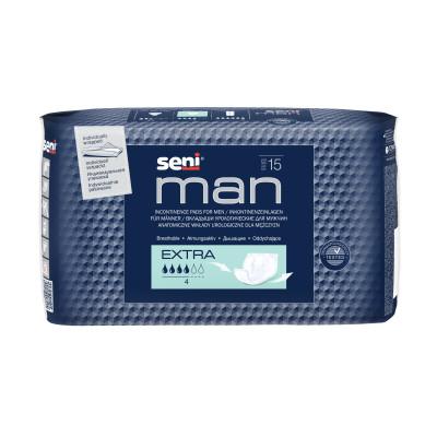 Урологические вкладыши, прокладки для мужчин Seni Man extra 15 шт 5900516693190