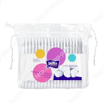 Ватные палочки Bella Cotton, в полиэтиленовой упаковке, 160 шт. 5900516400170
