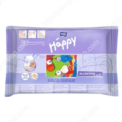 Детские влажные салфетки Bella Baby Happy с витамином Е для ухода за кожей младенцев 10 шт 5900516420673