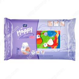 Детские влажные салфетки Bella Baby Happy с витамином Е для ухода за кожей младенцев 24 шт 5900516420680