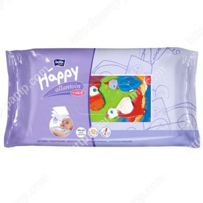 Детские влажные салфетки Bella Baby Happy с витамином Е для ухода за кожей младенцев 64 шт 5900516421120