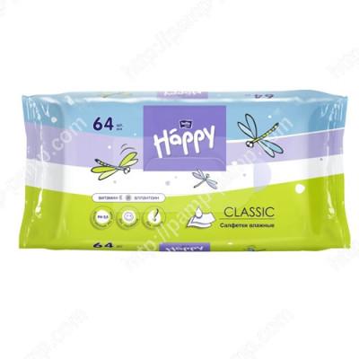 Детские влажные салфетки Bella Baby Happy Classic 64 шт 5900516421601