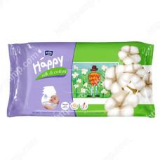 Детские влажные салфетки Bella Baby Happy Silk and Cotton - Шелк и хлопок, 64 шт 5900516421144