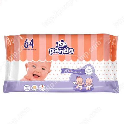 Детские влажные салфетки Panda, 64шт 5900516421229